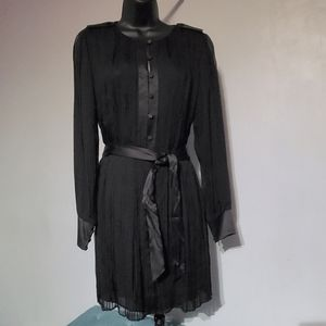Halston Heritage Silk Black Dress